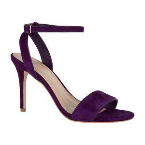 Sandro Nina Velvet Heeled Sandal Shoe Violet 8